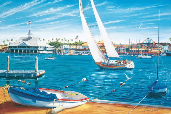Wall Art - Painting - Sunday Sail by Steve Simon