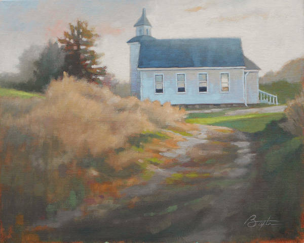 Chapels Painting - Sunday Sunrise by Todd Baxter