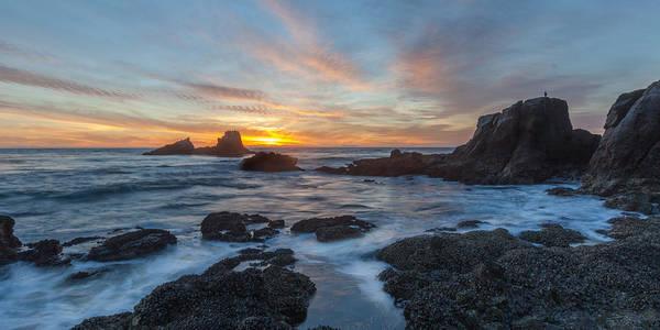 Photograph - Sundown At Seal Rock by Cliff Wassmann