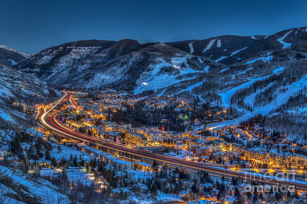 Sundown In The Vail Art Print