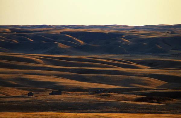 Expanse Photograph - Sundown On A Solitary Farm Near Mud by Todd Korol