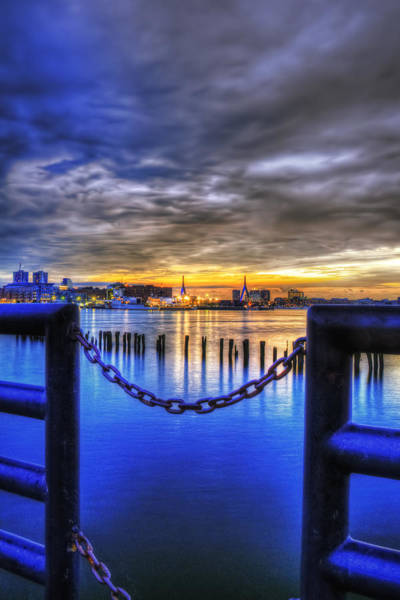 Photograph - Sundown On Boston Harbor by Joann Vitali