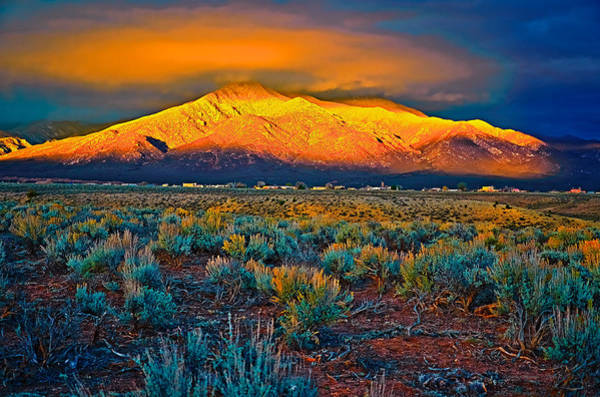 Photograph - Sundown On The Mountain by Charles Muhle