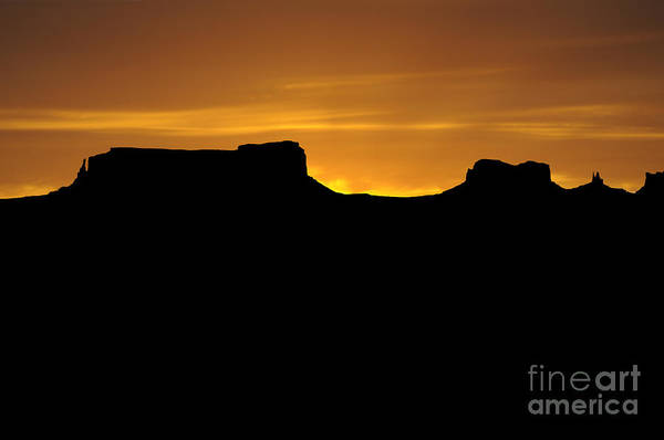 Photograph - Sundown Over Monument Valley by Brenda Kean