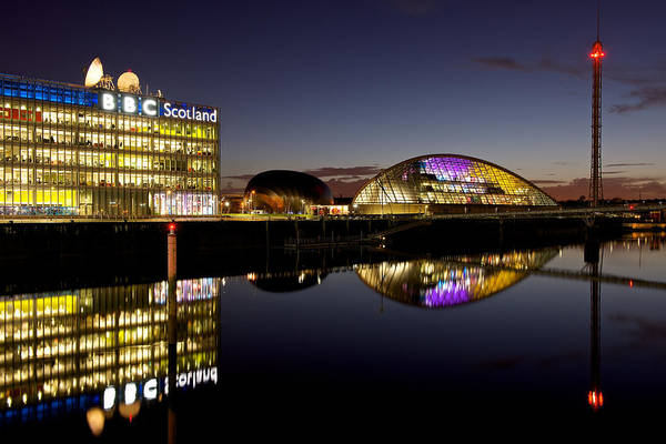 Photograph - Sundown Reflections On The Clyde by Stephen Taylor