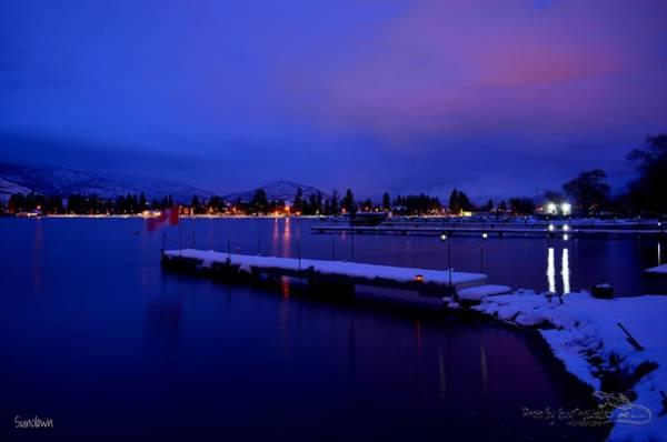 Sundown - The Blue Hour At Skaha Lake Art Print