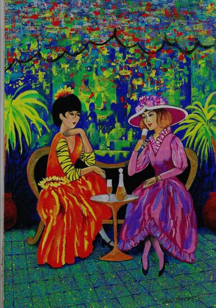 Painting - Sundowners by Val Stokes