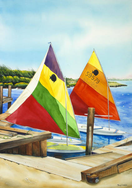 Painting - Sunfish Escape by Phyllis London