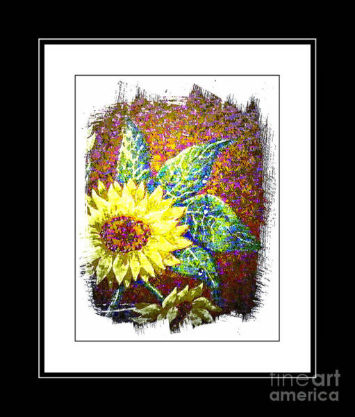 Sunflowers In A Vase Photograph - Sunflower 2 by Barbara Griffin