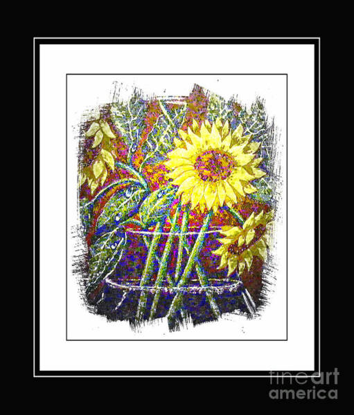 Sunflowers In A Vase Photograph - Sunflower  by Barbara Griffin