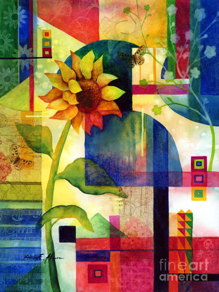 Blooming Painting - Sunflower Collage by Hailey E Herrera