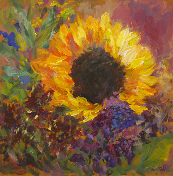 Painting - Sunflower Dance Original Painting Impressionist by Quin Sweetman