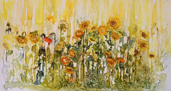 Painting - Sunflower Field by Joanne Smoley