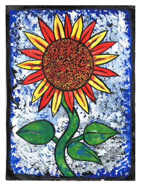 Spider Rock Mixed Media - Sunflower  by Josh Brown