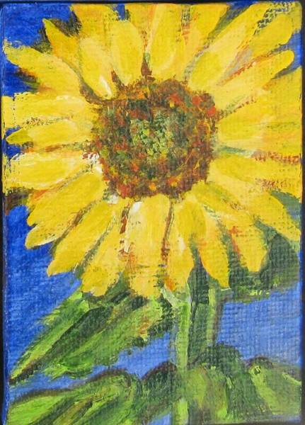 Painting - Sunflower by Laurie Morgan