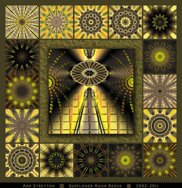 Sunflower Moon Redux Art Print