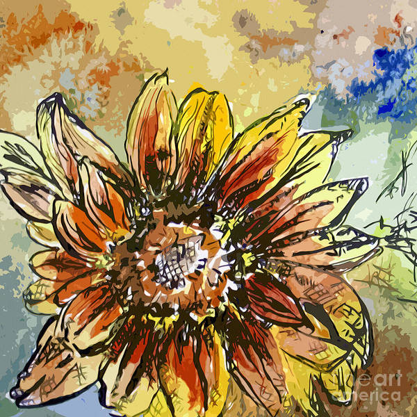 Mixed Media - Sunflower Moroccan Eyes by Ginette Callaway