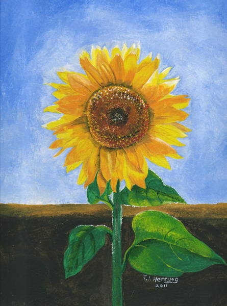 Painting - Sunflower Series Two by Thomas J Herring