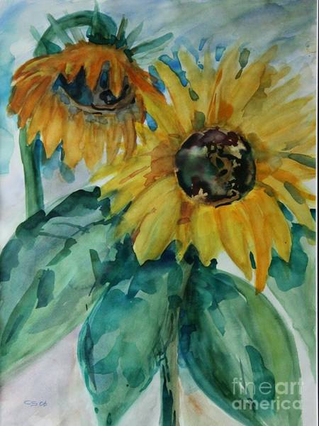Wall Paper Painting - Sunflower - Sold by Christiane Schulze Art And Photography