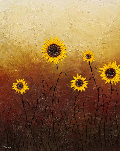 Painting - Sunflowers 1 by Carmen Guedez