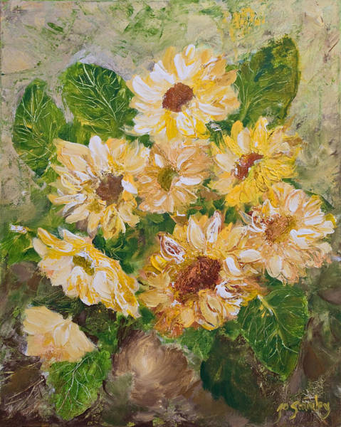 Painting - Sunflowers Forever by Joanne Smoley