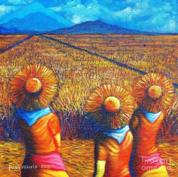Rice Wall Art - Painting - Sunflowers II by Paul Hilario