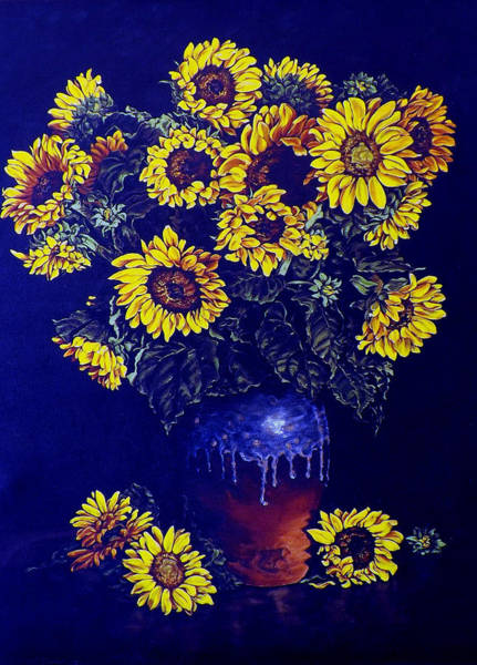 Painting - Sunflowers by Linda Becker