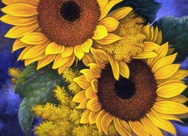 Beautiful Painting - Sunflowers by Mia Tavonatti