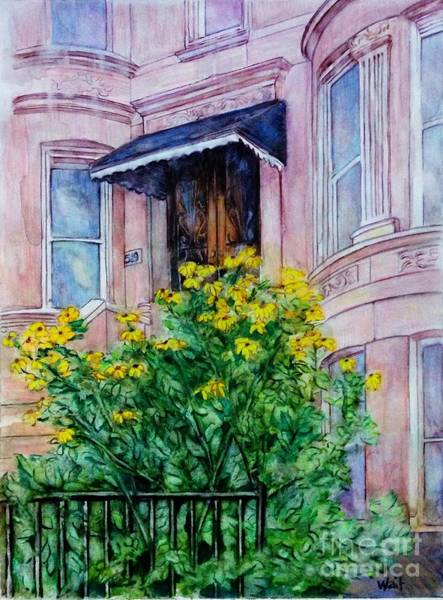 Painting - Sunflowers On 9th Street by Nancy Wait