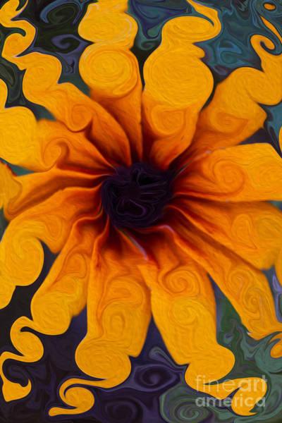 Sunflowers On Psychadelics Art Print