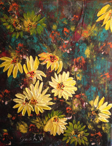 Painting - Sunflowers by Sima Amid Wewetzer