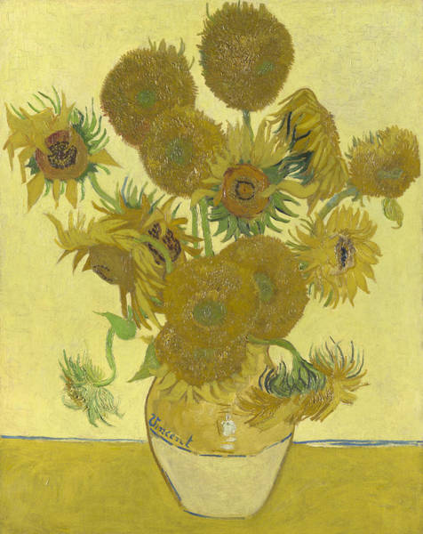 Rural Wall Art - Painting - Sunflowers by Vincent van Gogh