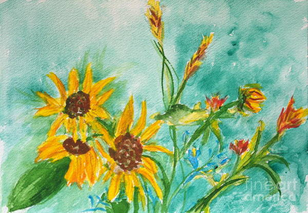 Painting - Sunflowers by Walt Brodis