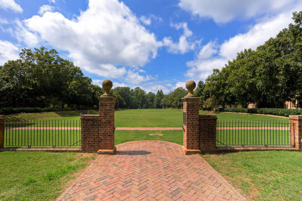 Photograph - Sunken Garden At William And Mary by Jerry Gammon