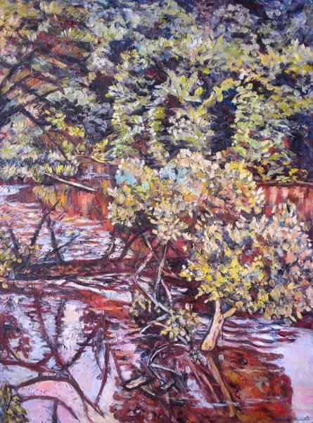 Painting - Sunken Tree On The Little River by Kendall Kessler