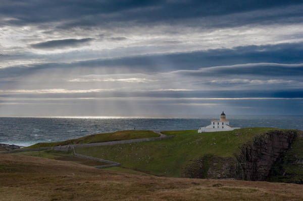 Photograph - Sunlight At Stoer Lighthouse by Gary Eason