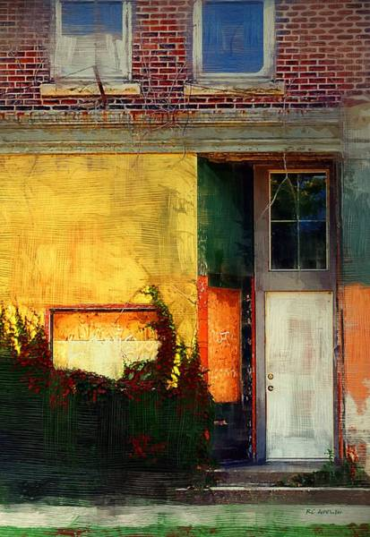 Painting - Sunlight Catching Yellow Wall by RC deWinter