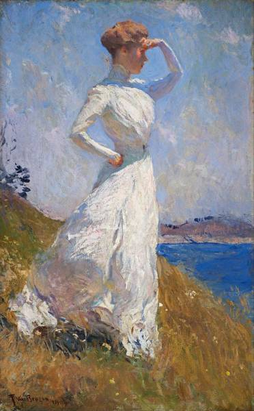 Lady In Waiting Painting - Sunlight Frank Weston Benson 1909 by Movie Poster Prints