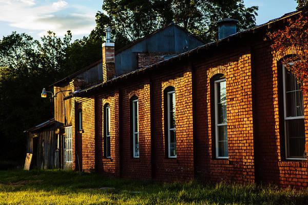 Kittitas County Wall Art - Photograph - Sunlight On Old Brick Building - Ellensburg - Washington by Steve G Bisig