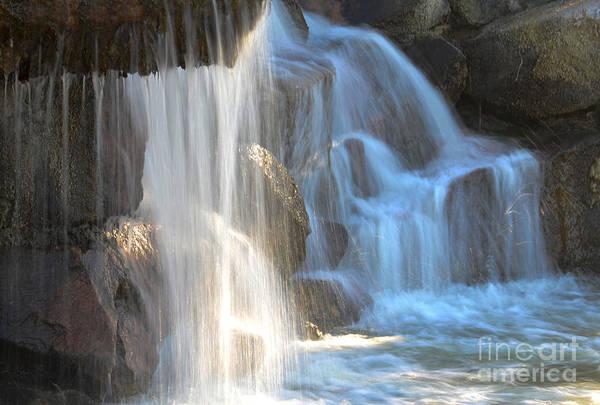 Spillway Photograph - Sunlight On The Falls by Deb Halloran