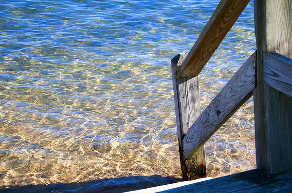 Photograph - Sunlight On Water And Wood by Brenda Kean