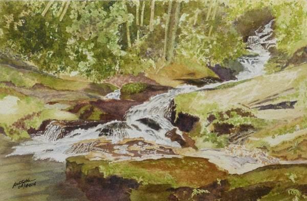 Sunlight Rocks And Water  II  Art Print