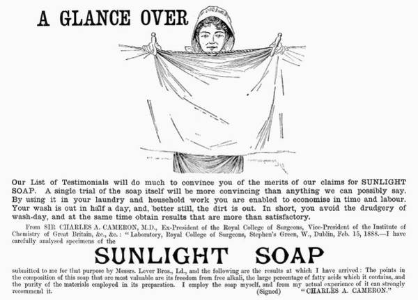 Clothesline Painting - Sunlight Soap, 1891 by Granger