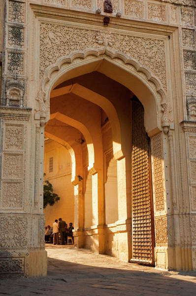 Jodhpur Wall Art - Photograph - Sunlight Streams Through The Gate by Inger Hogstrom