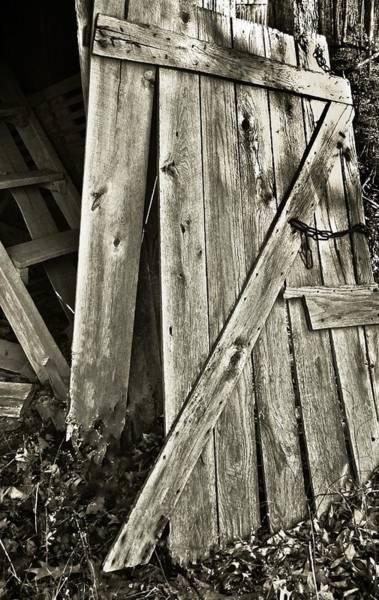 Sunlit Barn Door Art Print by Greg Jackson