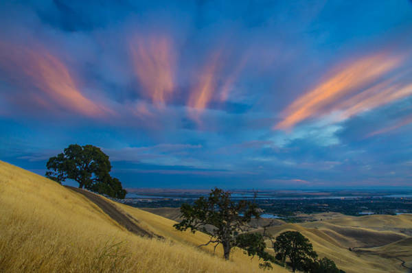 Sunlit Clouds At Sunrise Art Print