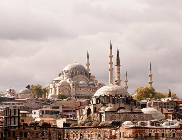 Suleymaniye Mosque Photograph - Sunlit Domes by Rick Piper Photography