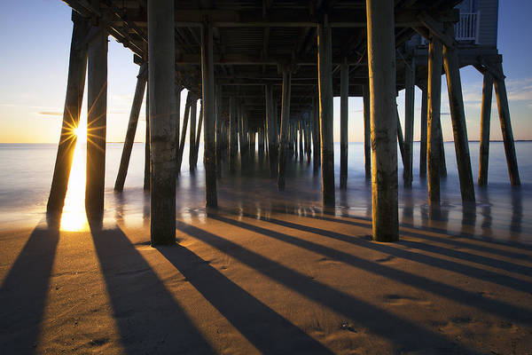 Orchard Beach Photograph - Sunlit Pilings by Eric Gendron