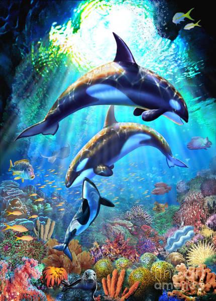 Reef Digital Art - Sunlit Sanctuary by MGL Meiklejohn Graphics Licensing