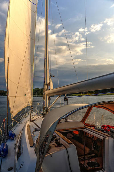 Sunny Afternoon Inland Sailing In Poland 2 Art Print